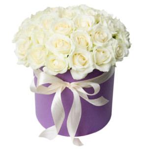 """Цветы в коробке """"Белые Розы"""""""